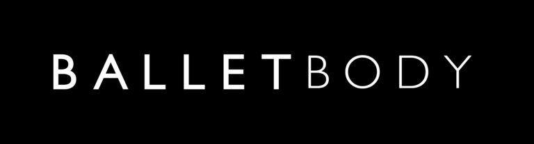ballet body white logo